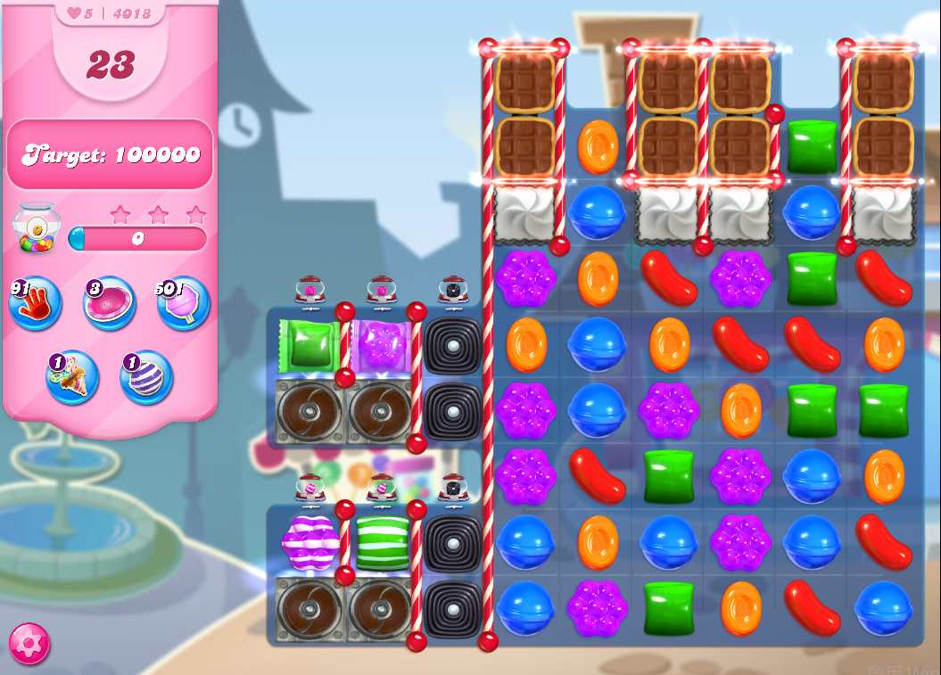 Candy Crush Saga level 4018