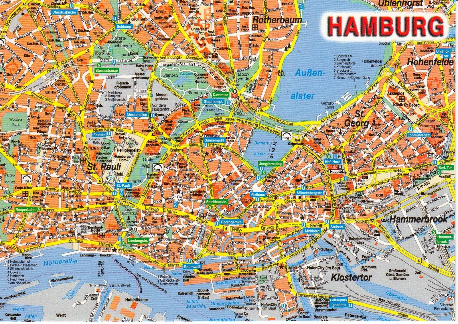 stadt hamburg karte Deutschlandkarte: Hamburg Stadt Karte Bilder