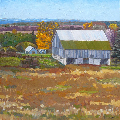 Oil Paintings By Barbara Pearn Old Barn With A View