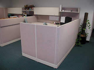 Used Small Office Cubicles and Simple White Room Dividers