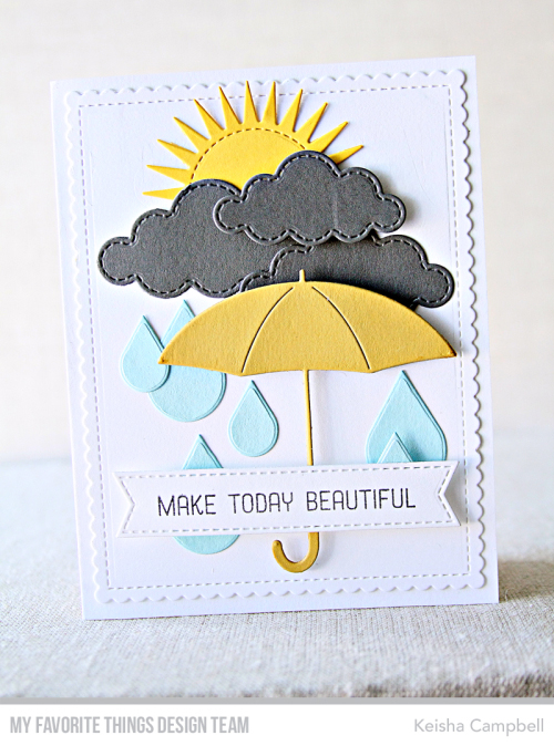 Handmade card from Keisha Campbell featuring products from My Favorite Things #mftstamps