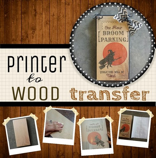how to transfer images to wood using freezer paper the