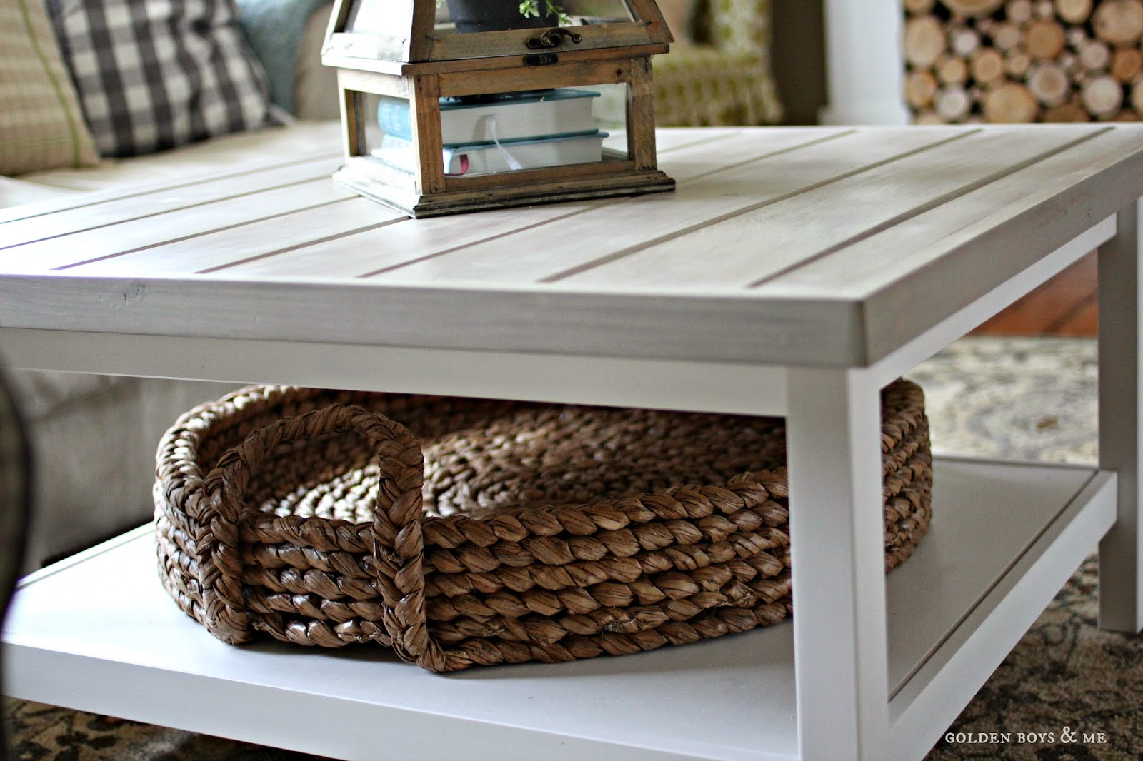 Pottery Barn Beachcomber Tray Basket On Ikea Hack Coffee Table Www Goldenboysandme