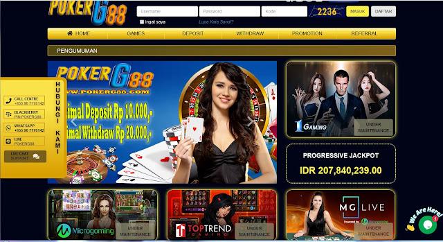 Pokerg88 Menyediahkan Promo New Member 20 %