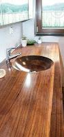 Lavamanos y Vanitorios rústicos hechos de madera