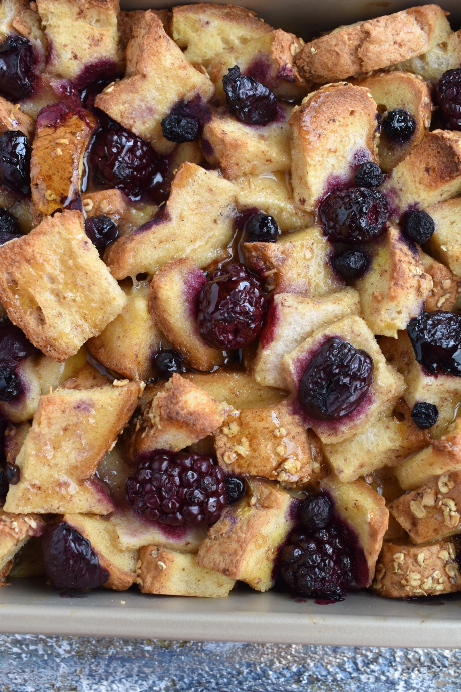 Whole-Grain Berry French Toast Casserole