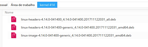 Kernel Ubuntu no Deepin