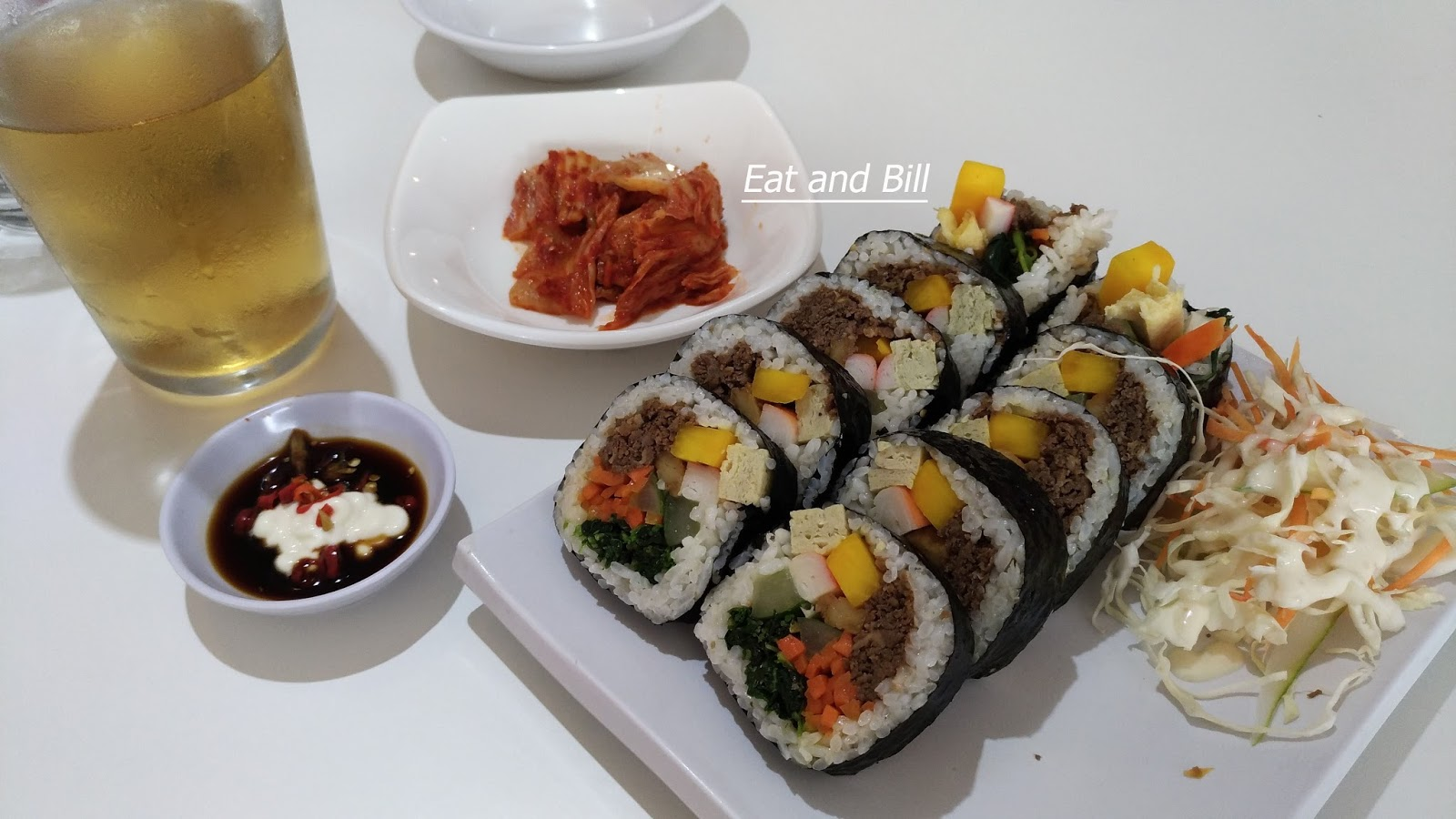 Eat and bill 2018 k pop music for background and a big lcd scree of k pop video the waiters are competent for describe the menu and gave us some information of menu and thecheapjerseys Image collections