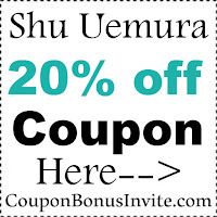 Shu Uemura Discount Code 2017, Shu Uemura Promo Codes January, February, March, April