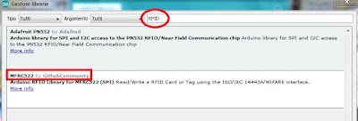 Fig.2 - Installiamo la libreria - Fonte IDE Arduino