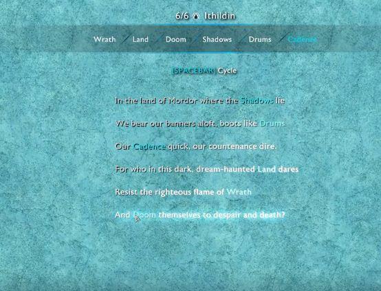 Ithildin Poems 5