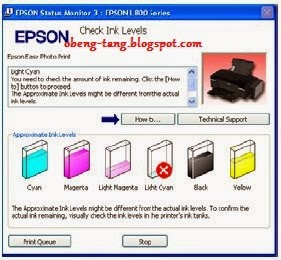 Cara Reset Ink Level Printer Epson L100, L200 dan L800