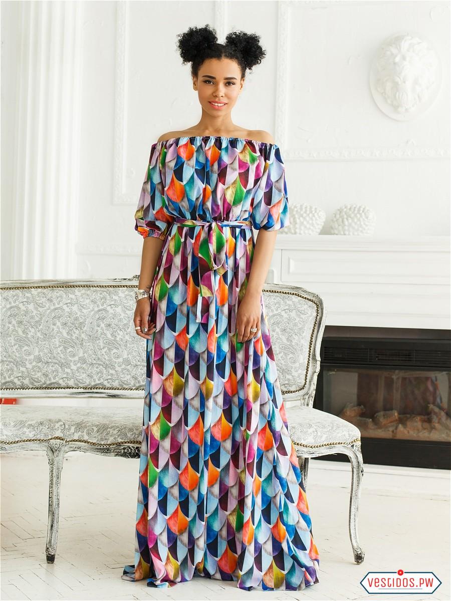 821a1d27a9 Vestidos Largos Informales 2018 ¡Hermosos Diseños!