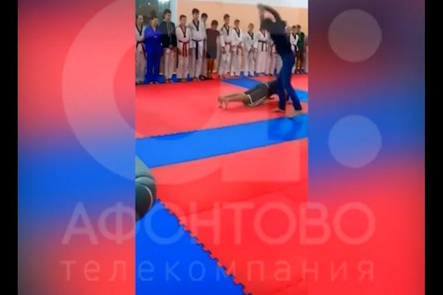 Полиция заинтересовалась тренером, который высек своих воспитанников скакалкой. Видео инцидента было показано в эфире телеканала «Афонтово».