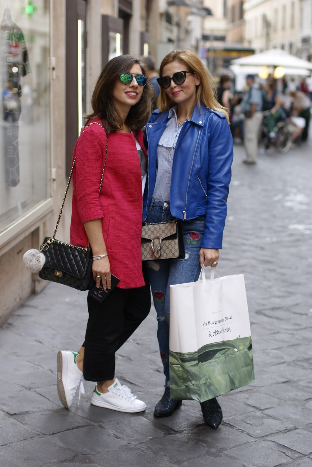 Fashion Bloggers meetup in Rome: Iolanda e Valentina on Fashion and Cookies fashion blog, fashion blogger style