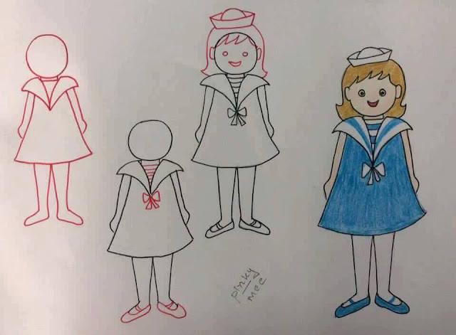 Belajar menggambar tokoh kartun untuk anak-anak 1