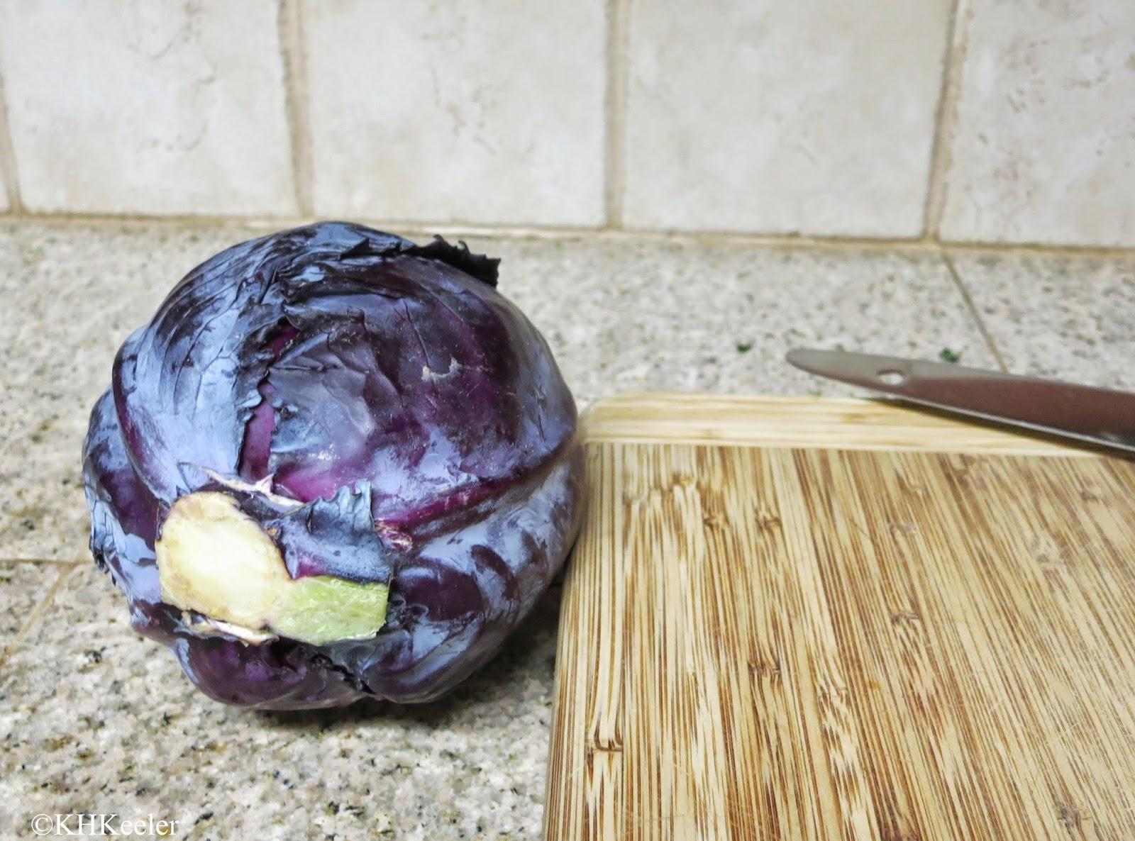 Dyestuff: 1 red cabbage, Brassica oleracea