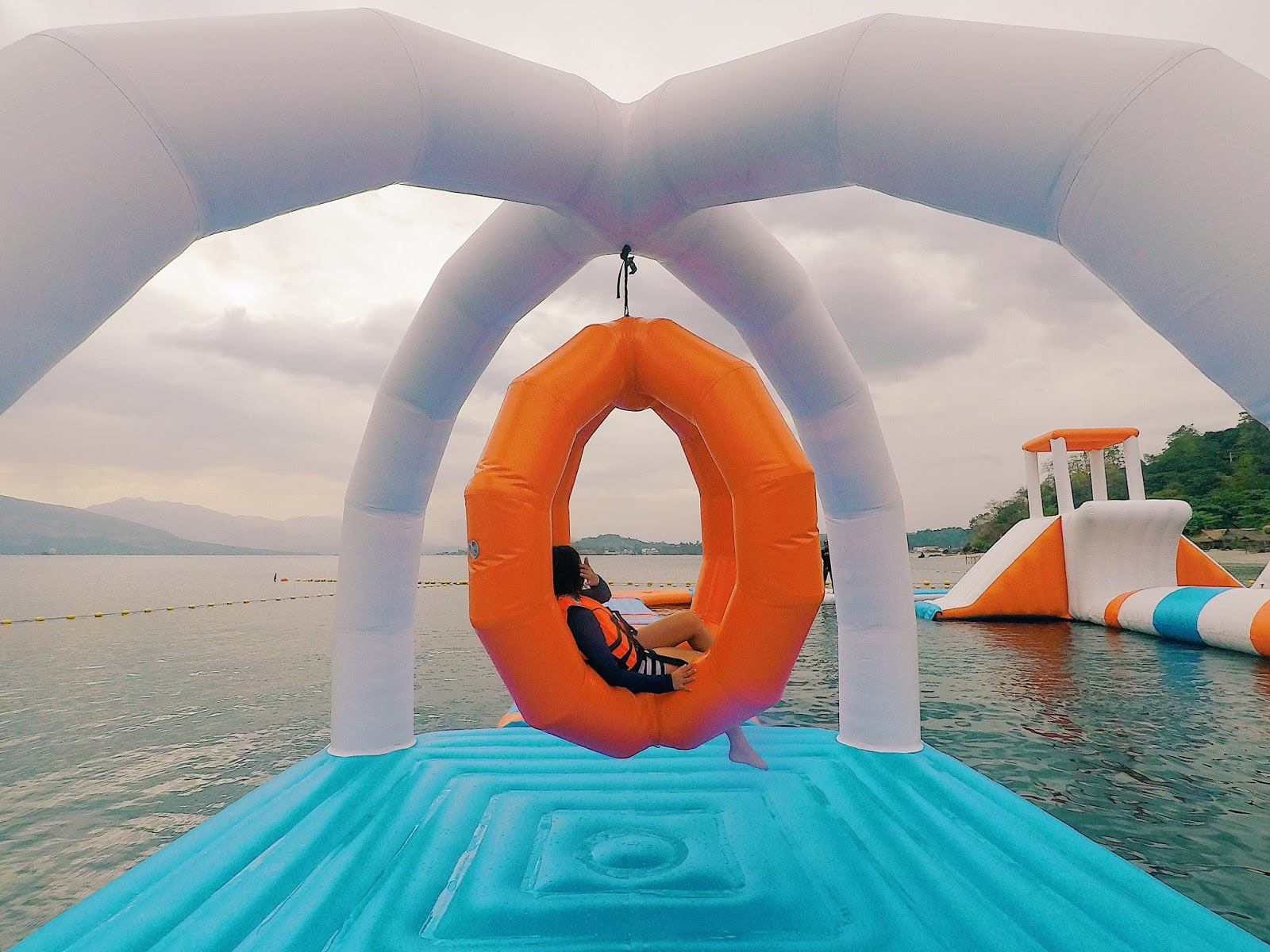 Inflatable Island Happy Swing Course