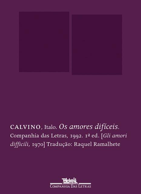Os amores difíceis - Italo Calvino