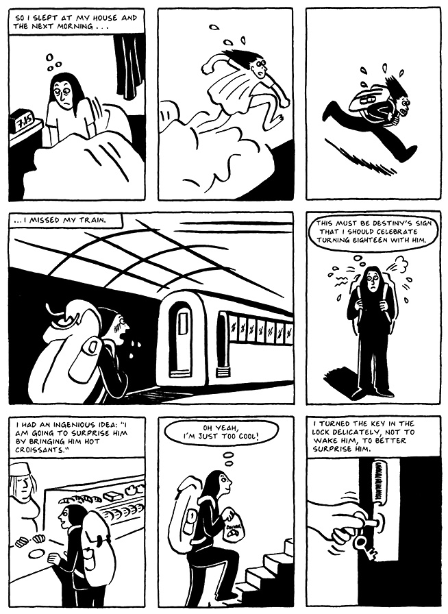 Read Chapter 8 - The Croissant, page 77, from Marjane Satrapi's Persepolis 2 - The Story of a Return