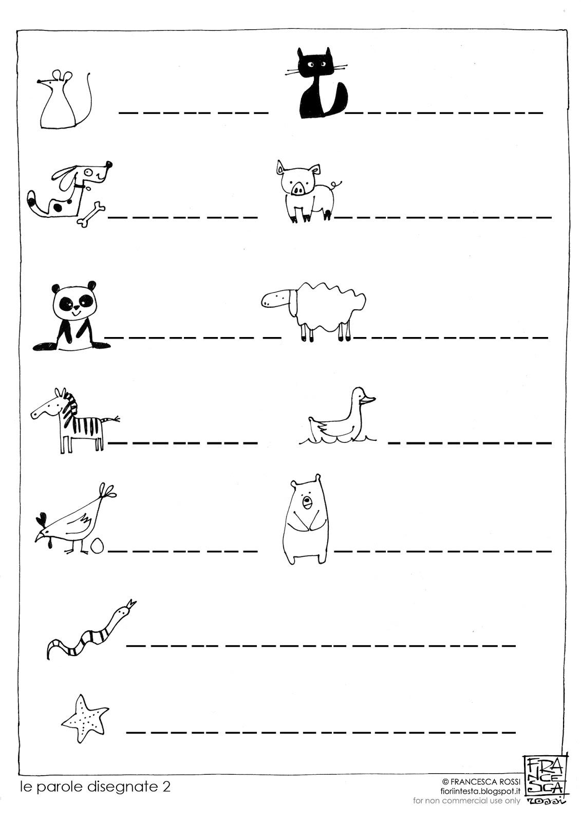 Conosciuto FIORI IN TESTA: Esercizi di scrittura free-printable: le PAROLE  XG63