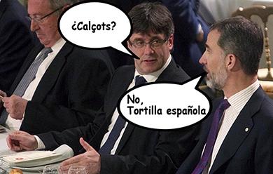 el villano arrinconado, humor, chistes, reir, satira, Puigdemont, Felipe VI