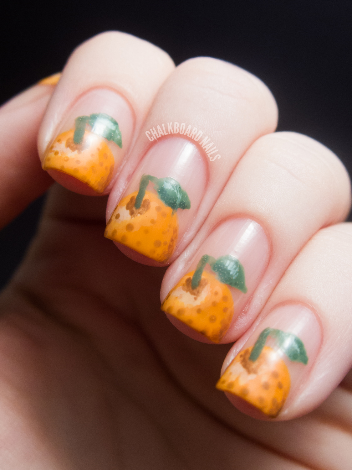 31dc2012 Day 10 Gradient Nails: 31DC2012: Day 02, Orange Nails