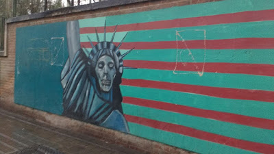 Statue Of Liberty At US Embassy In Tehran Den of Espionage Iran Travel Blog
