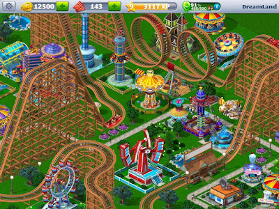 RollerCoaster Tycoon 4 Mobile MOD APK+DATA 1.6.0-Screenshot