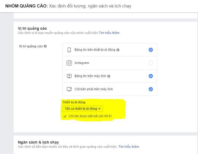 Lưu ý quảng cáo facebook trên hệ điều hành và kết nói Wifi