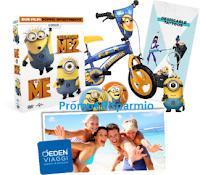 Logo UCI Cinemas: vinci gratis kit, gadget e biciclette Minions o con il biglietto 1 vacanza per la famiglia