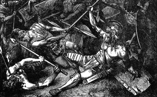 """The Death of Spartacus"" by Hermann Vogel (1882)"