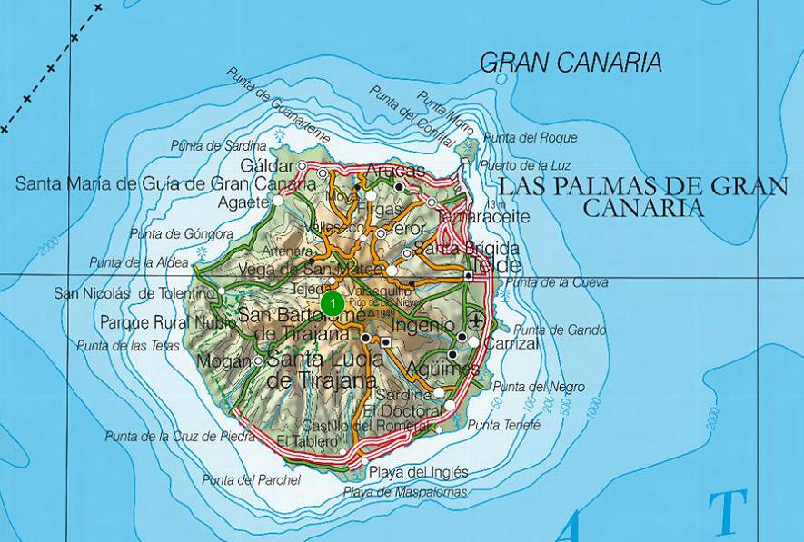 Sendas de burgos mapa de la isla de gran canaria for Oficina de correos las palmas de gran canaria