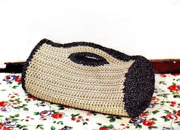 bolso, cilíndrico, crochet, patron gráfico, patrón japonés