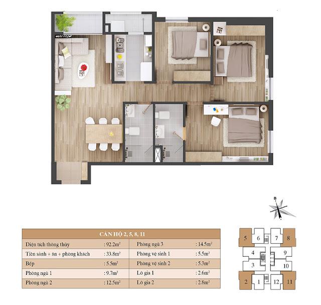 Thiết kế căn hộ 02 05 08 11