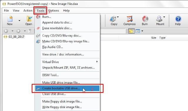 Cara Membuat Bootable USB Flashdisk Windows 7, 8, 8.1, 10 dengan PowerIso