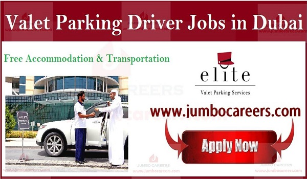 Valet parking Jobs with accommodation, Elite Valet Parking Services job vacancies,