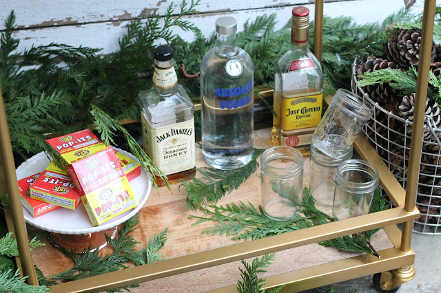 Bar Cart New Years AK Party Studio