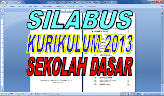 SILABUS KURIKULUM 2013 SD