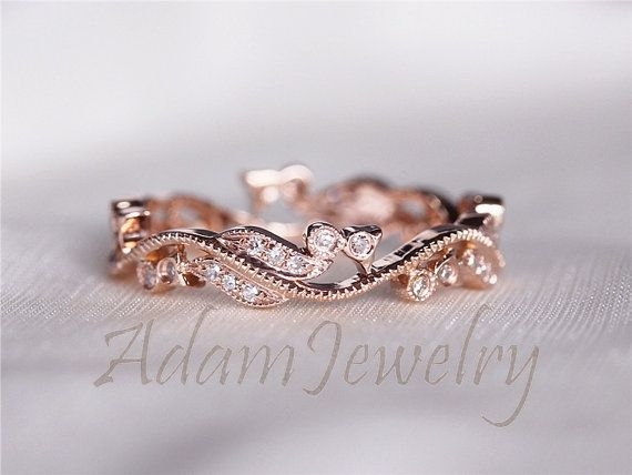 Rose Gold Wedding Rings Women