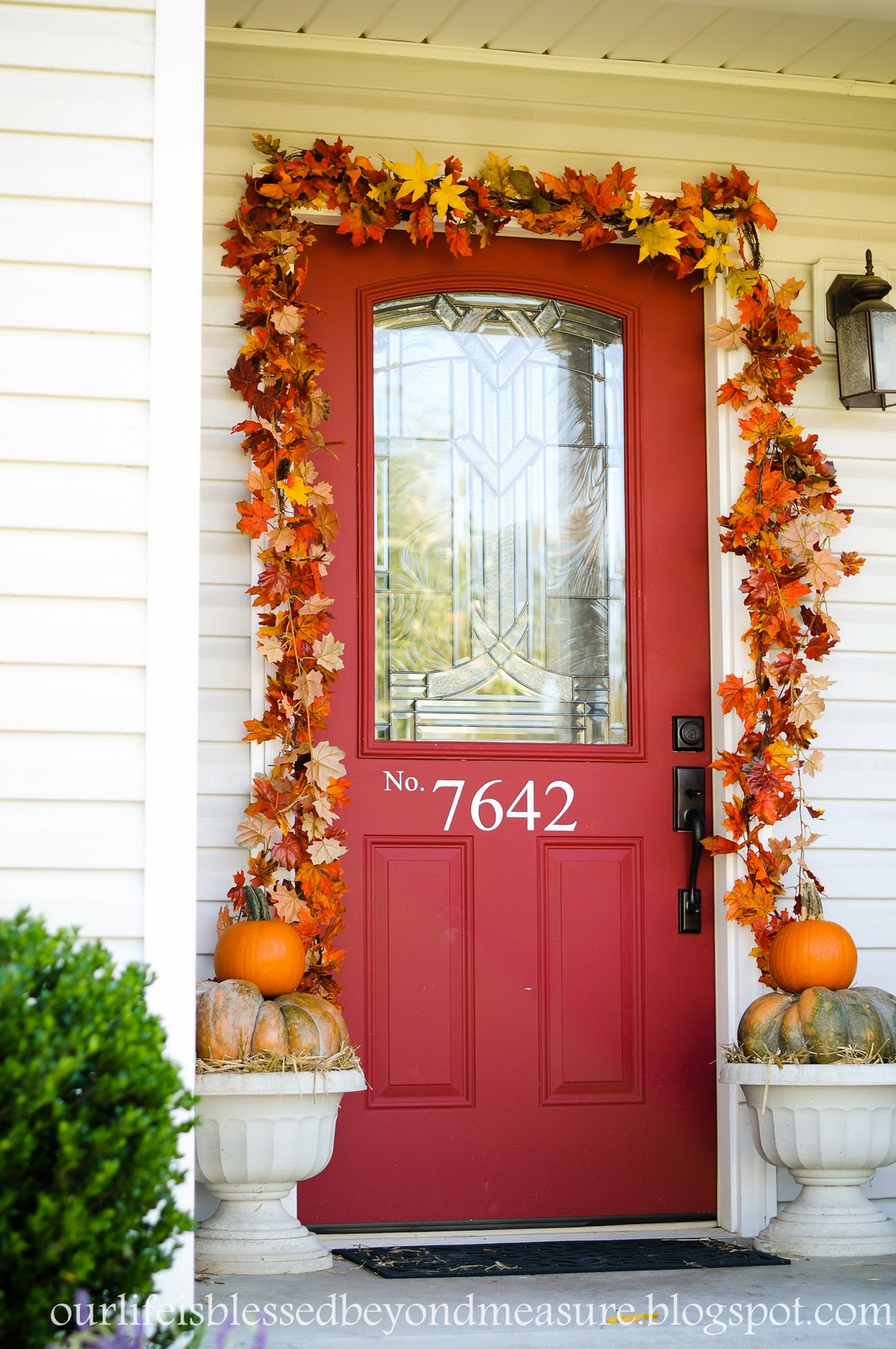 Blessed beyond measure my frugal fall front porch - Fall front porch ideas ...