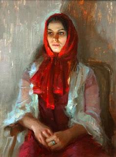 pinturas-de-mujeres-con-vestidos-rojos-apasionados