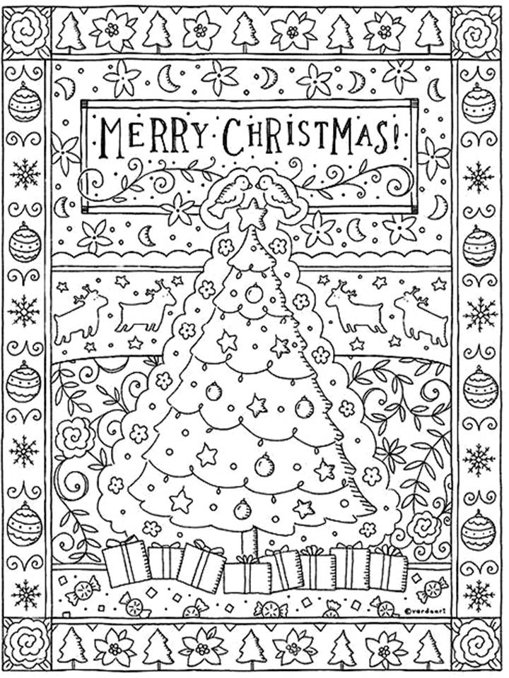 Christmas Mandala Coloring Pages Coloring Pages