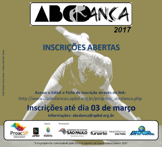 Companhia de Danças de Diadema abre inscrições para ABCDança 2017