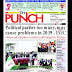 NIGERIA NEWSPAPERS: TODAY'S THE PUNCH NEWSPAPER HEADLINES [30 JANUARY, 2018].