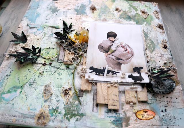 @nastyalena #mixedmedia #scrapbooking #canvas