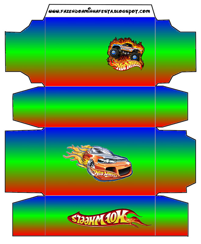 Hot Wheels Party: Free Printable Boxes. - Oh My Fiesta! in ...