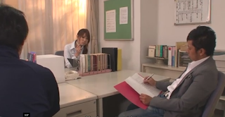 Pussy Yuno Hoshi Seduces Two Dads in Office