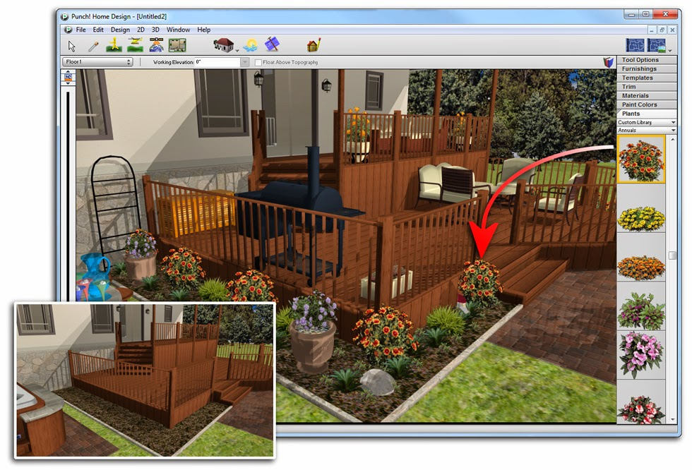 Software downloads download punch architectural series 17 5 - Punch software home and landscape design ...
