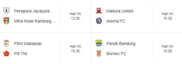 Jadwal Liga 1 Sabtu 21 April 2018 - Siaran Langsung Indosiar